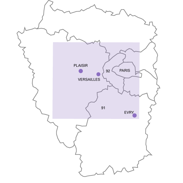 Zones d'interventions 78 - 92 - 75 -91